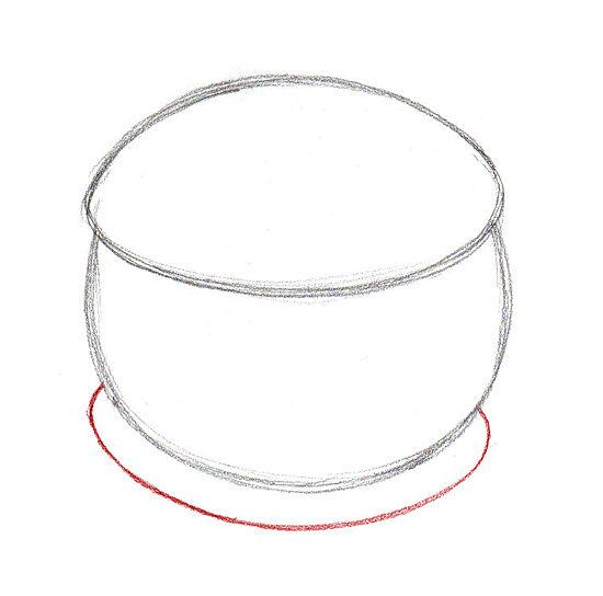Как легко и просто нарисовать гамбургер - шаг 3