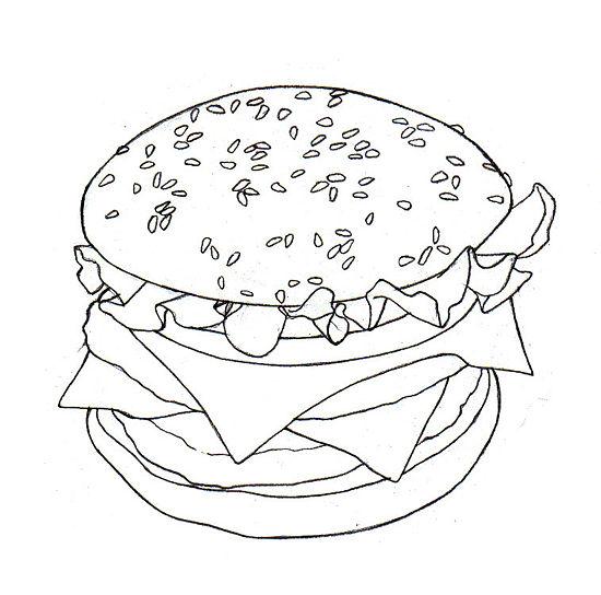 Как легко и просто нарисовать гамбургер - шаг 4