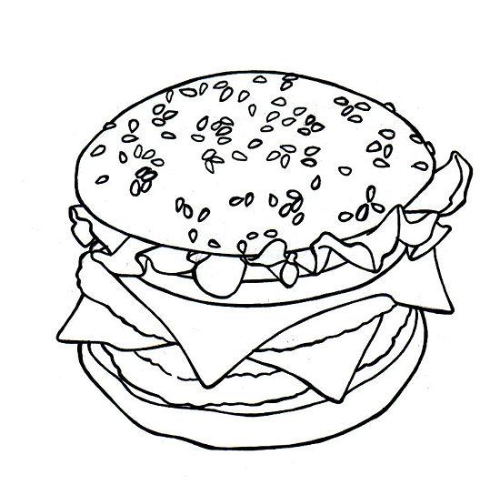 Как легко и просто нарисовать гамбургер - шаг 5