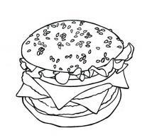гамбургер карандашом