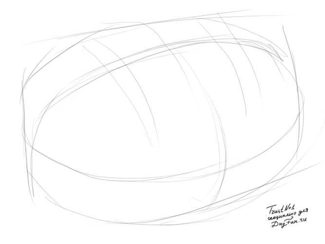 Рисуем хлеб с кунжутом - фото 1