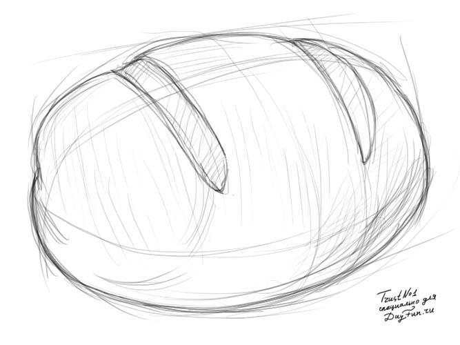 Рисуем хлеб с кунжутом - фото 3