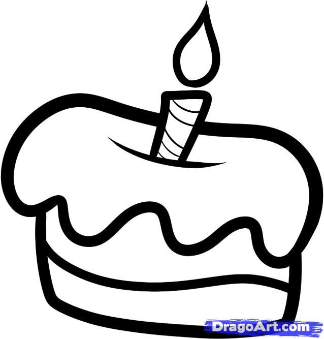 Рисуем маленький тортик со свечкой - фото 4