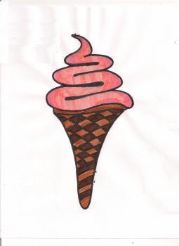 Рисуем мороженое рожок