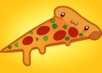 Рисуем кусочек Пиццы