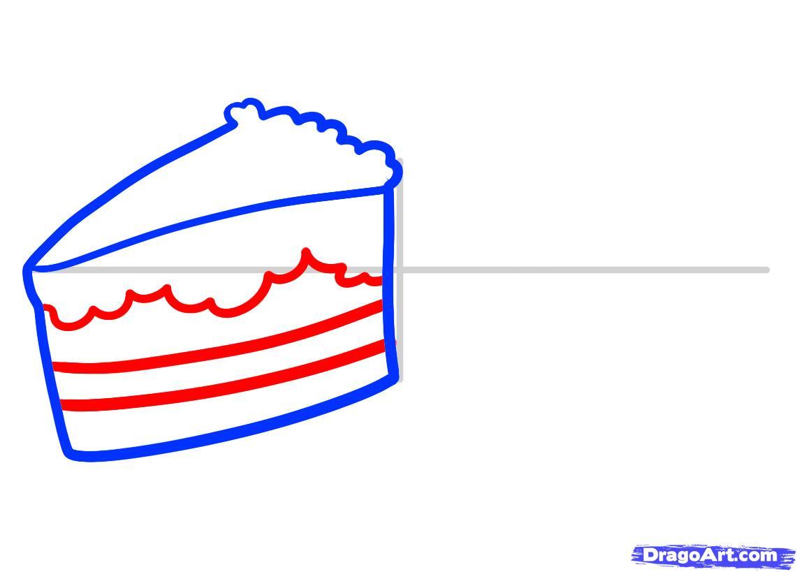 Рисуем Пирожные - шаг 3