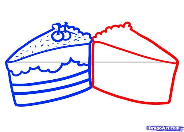 Рисуем Пирожные - шаг 5