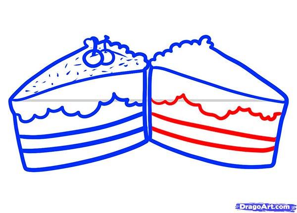 Рисуем Пирожные - шаг 6