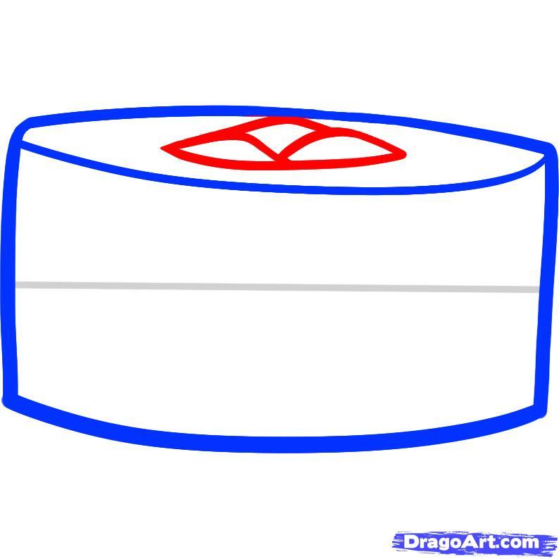 Рисуем суши - шаг 3