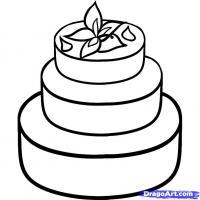 Свадебный торт карандашом