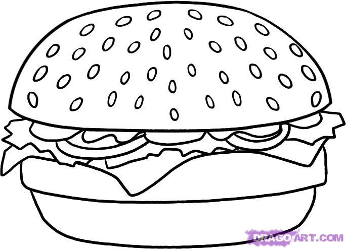 Как поэтапно карандашом нарисовать гамбургер