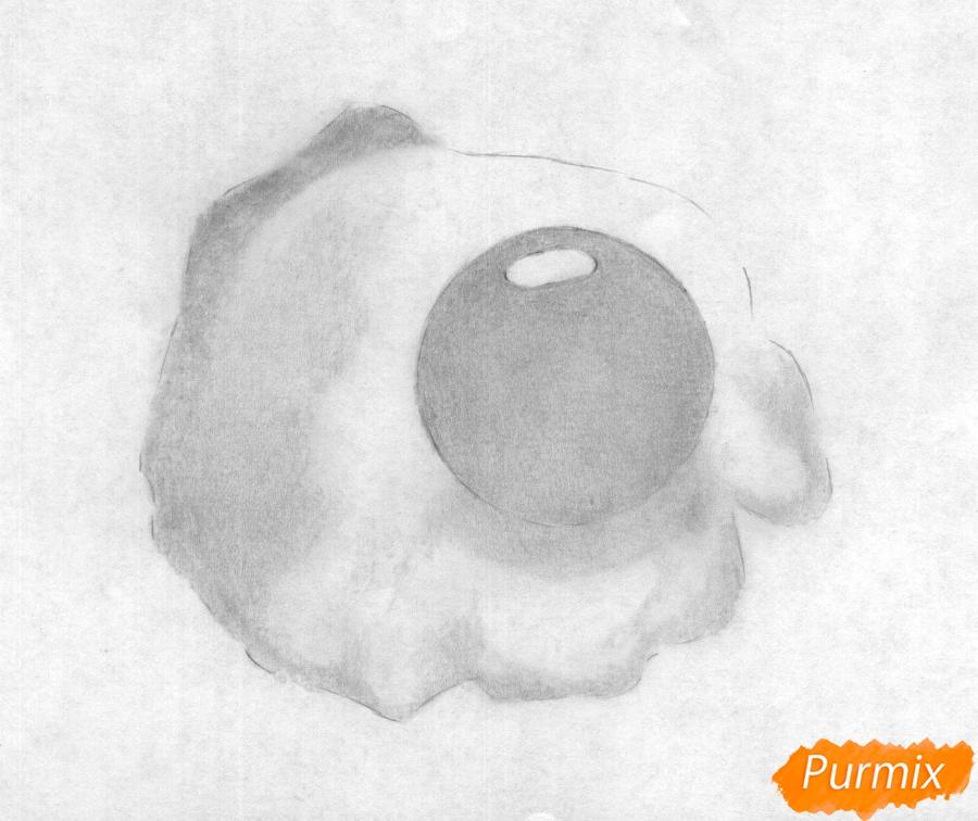 Рисуем яичницу карандашами - фото 2