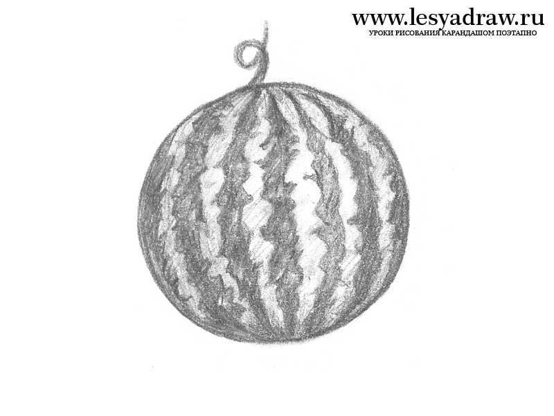 Рисуем арбуз - фото 2