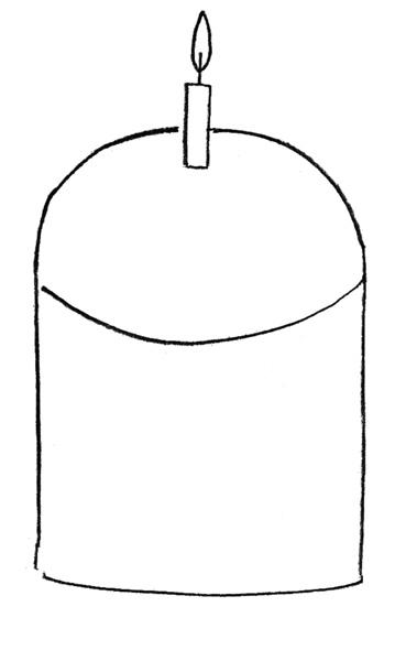 Рисуем пасху - шаг 1