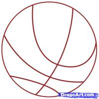 Фото баскетбольный Мяч карандашом