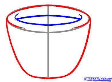 Как рисовать чашки карандашами - шаг 3