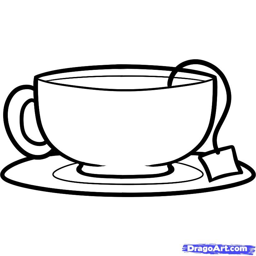 Рисуем чашку с чаем