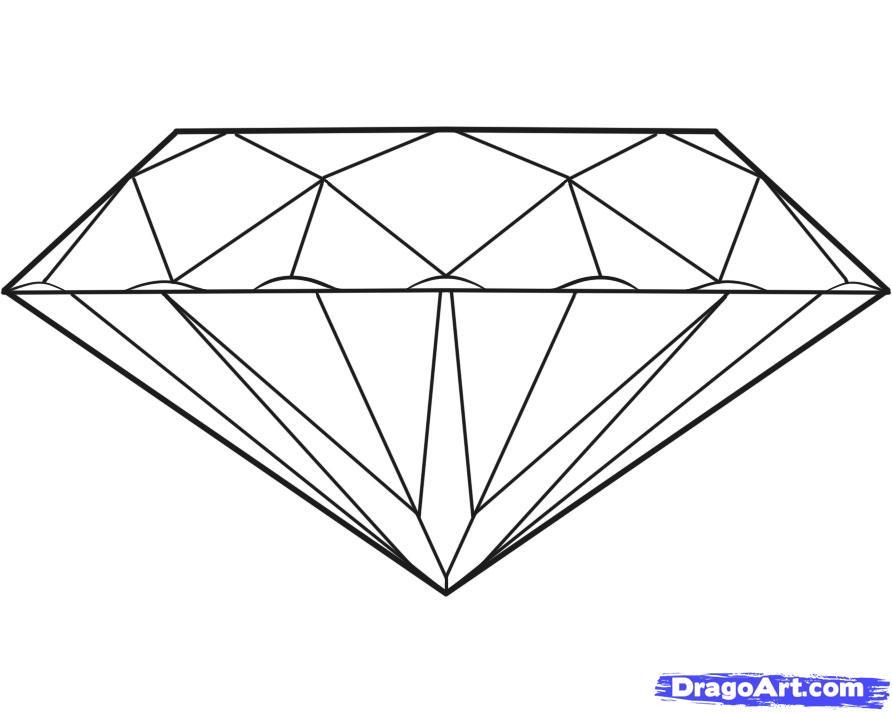 рисунок алмаза