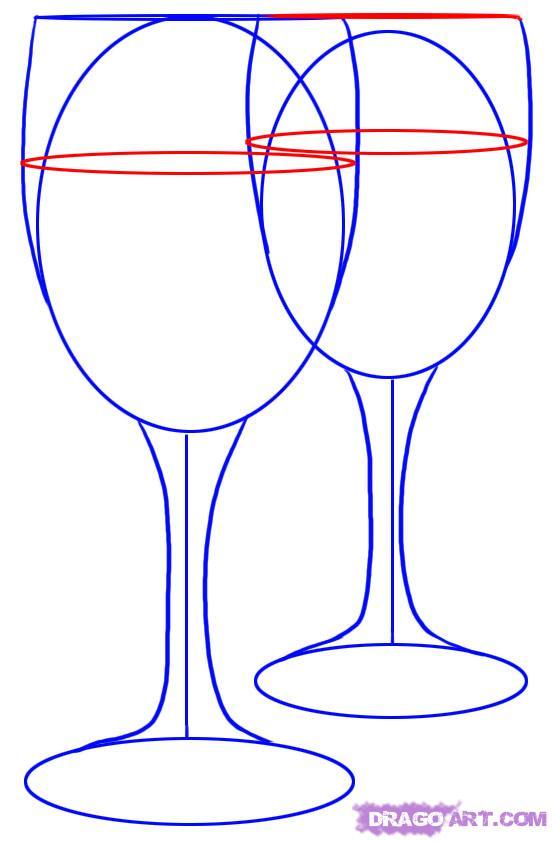 Как нарисовать стаканы поэтапно