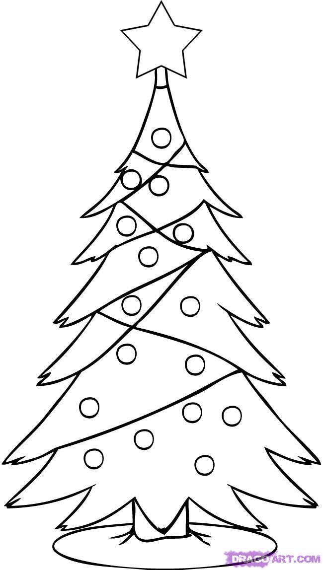 Рисуем новогоднюю елку - шаг 4