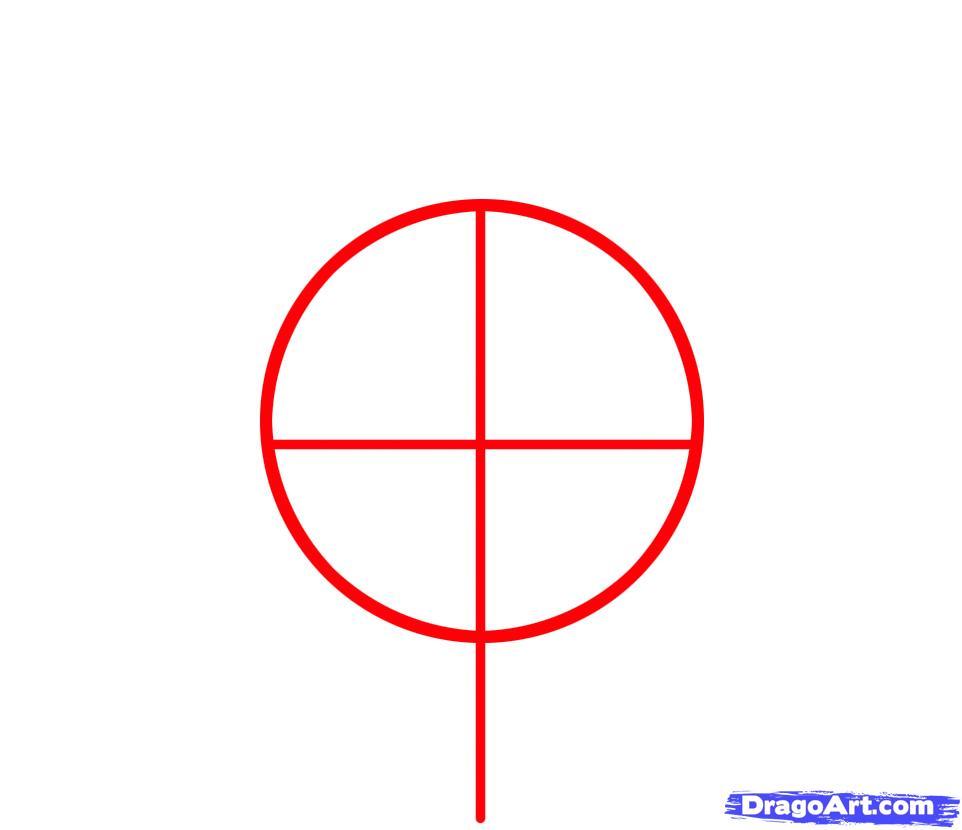 Рисуем эмблему Чикаго Булс