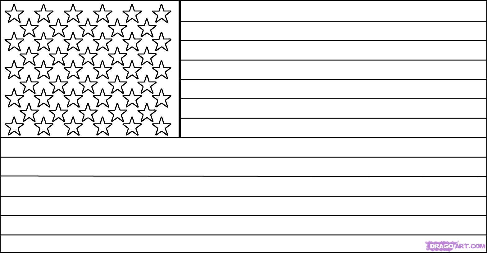 Как нарисовать флаг Америки (США) карандашом поэтапно