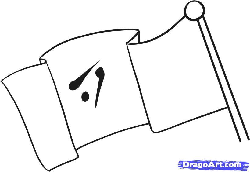 Как нарисовать легко Флаг поэтапно