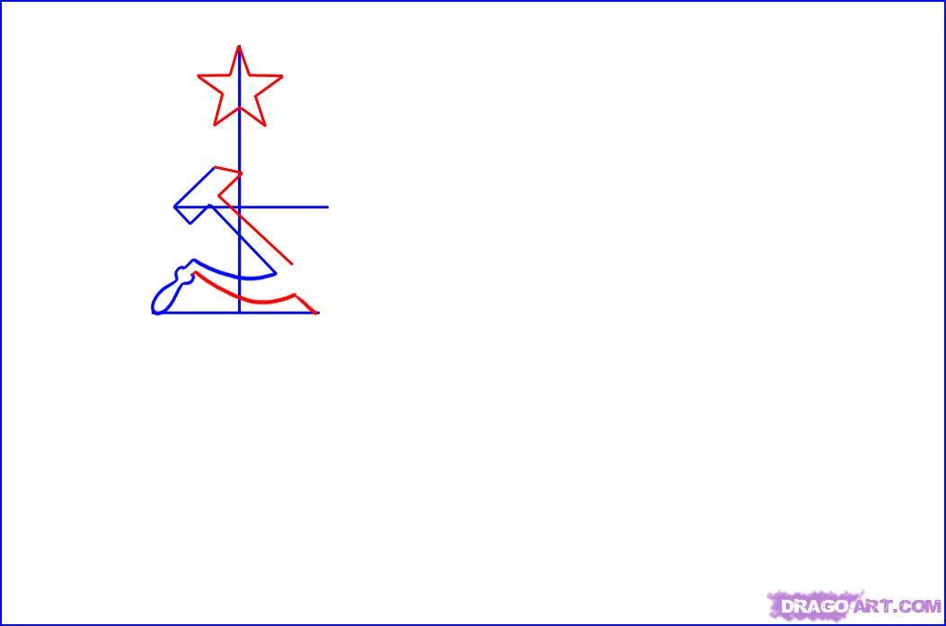 Рисуем Флаг СССР