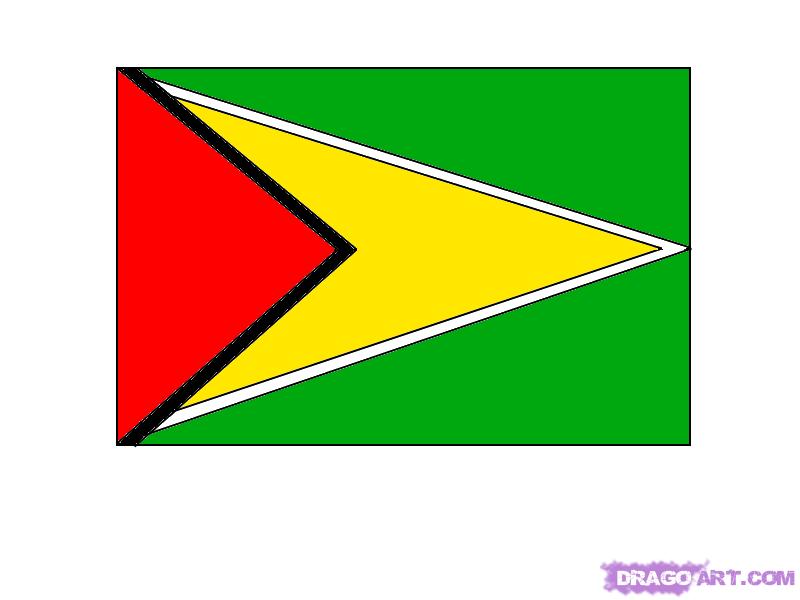 Рисуем Гайанский флаг