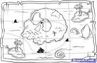 Карту сокровищ карандашом