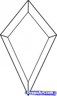Кристалл карандашом