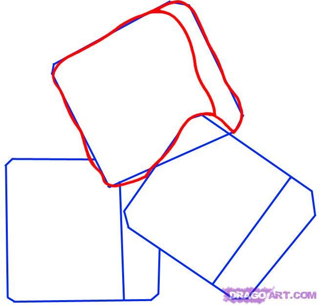 Рисуем кубики льда - шаг 2
