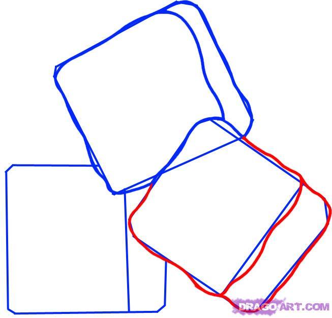 Рисуем кубики льда - шаг 3