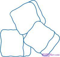 Как нарисовать кубики льда карандашом поэтапно