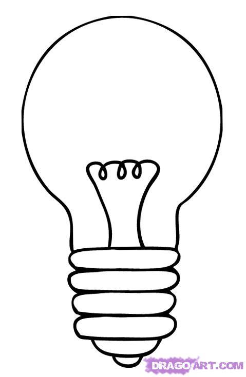 Как нарисовать Лампочку карандашом поэтапно
