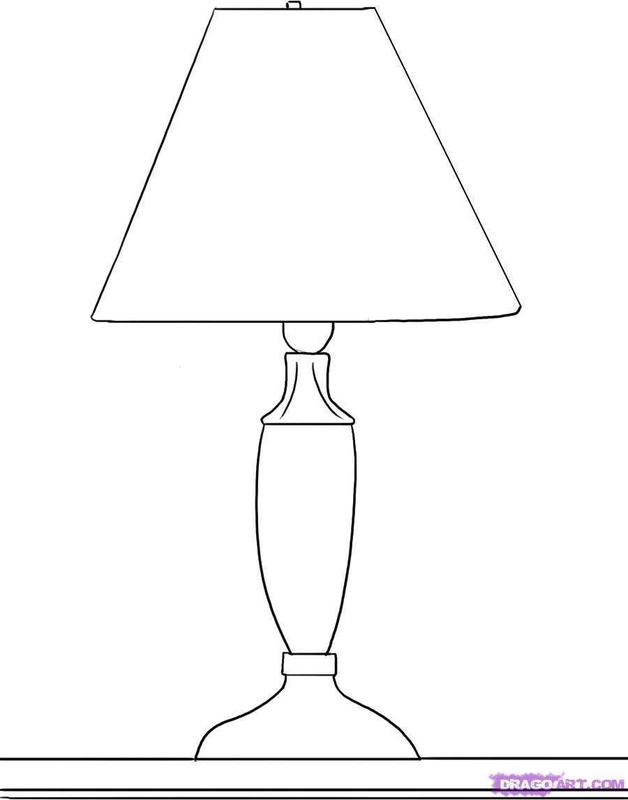 Рисуем настольную Лампу