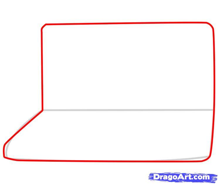 Рисуем Ноутбук - шаг 2