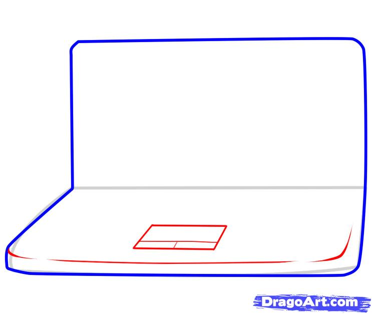 Рисуем Ноутбук - шаг 3