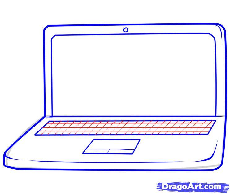 Рисуем Ноутбук - шаг 5