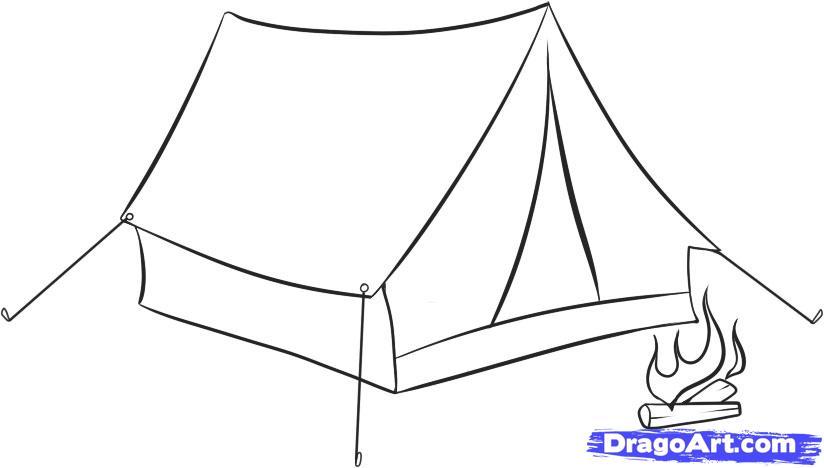 Рисуем Палатку