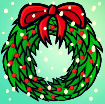 Рисуем Рождественский венок