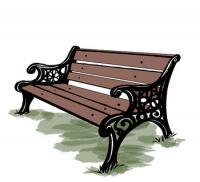 Как нарисовать скамейку карандашом поэтапно