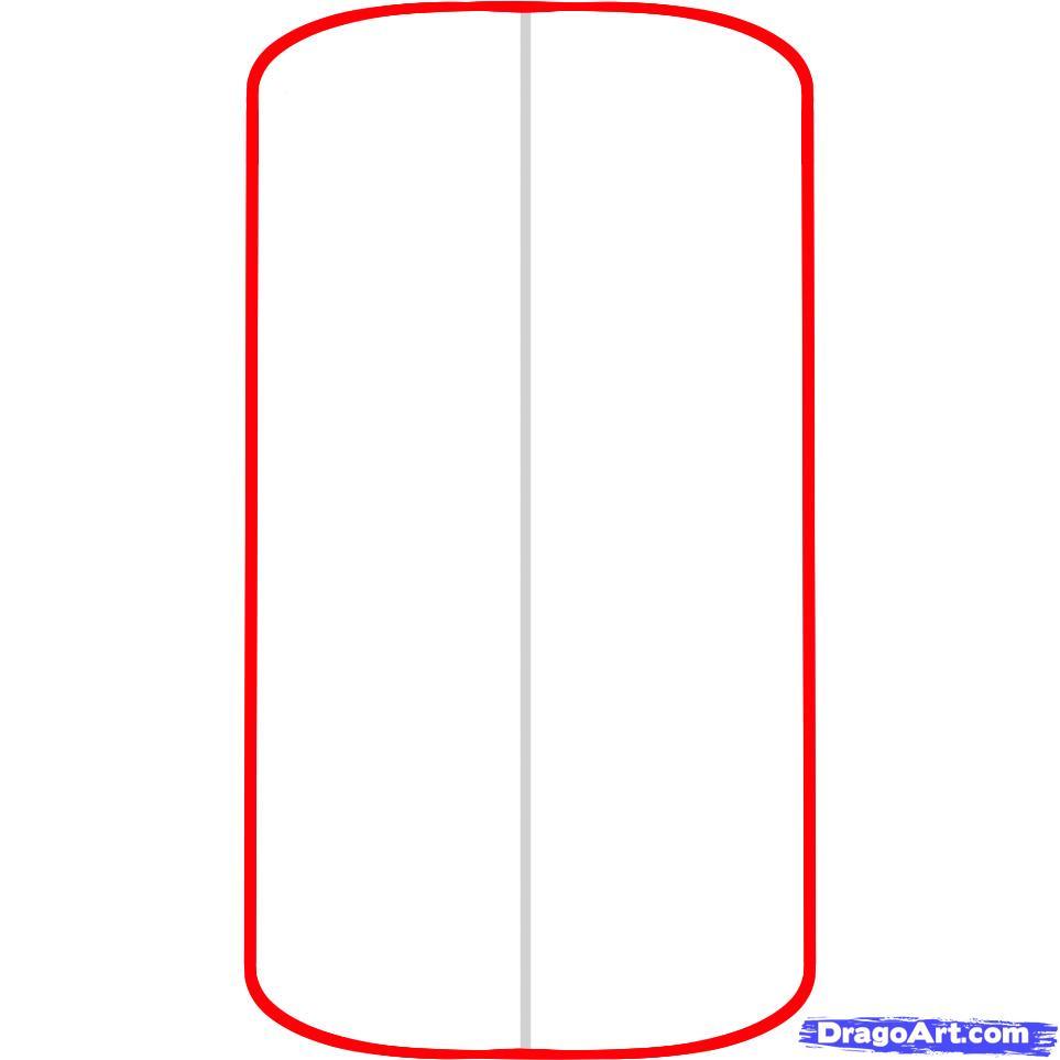 Рисуем телефон iPhone - шаг 2