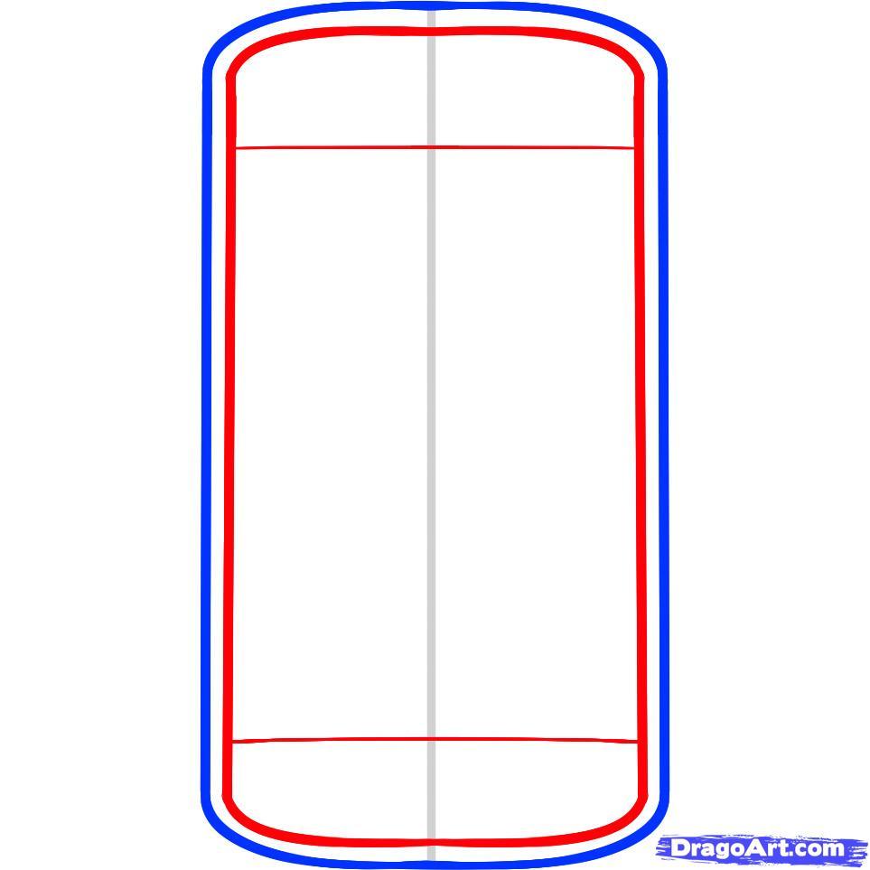 Рисуем телефон iPhone - шаг 3
