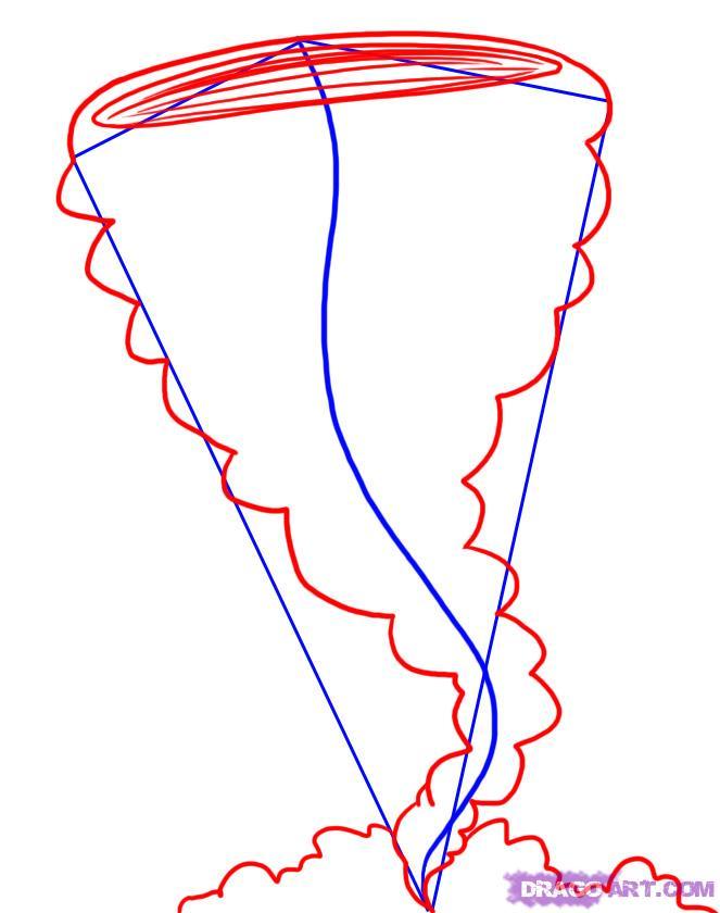 Как нарисовать ураган карандашом поэтапно