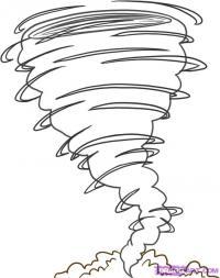 Как нарисовать Торнадо карандашом поэтапно