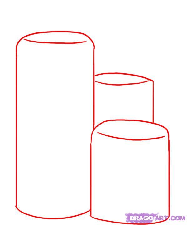 Как рисовать свечу поэтапно