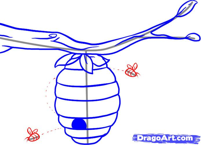 Рисуем Улей с пчелами