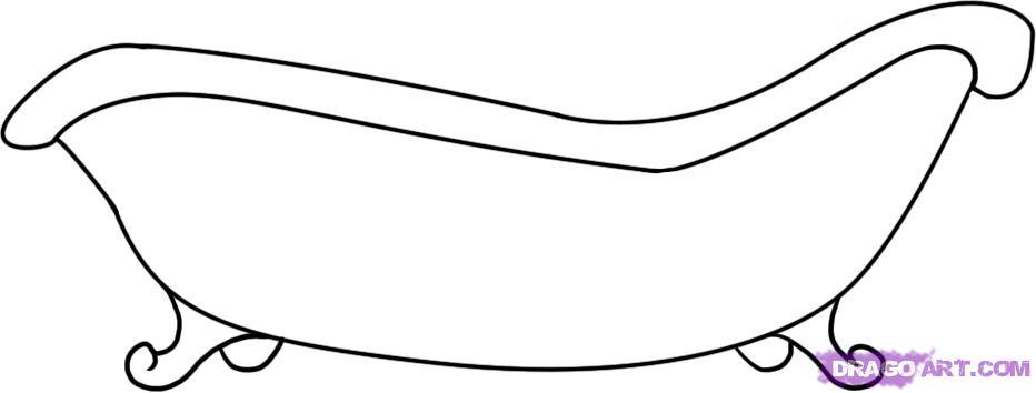 Как нарисовать ванну карандашом поэтапно