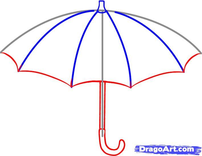 Рисуем зонт - фото 3